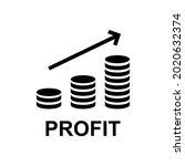 profit finance business icon...   Shutterstock .eps vector #2020632374
