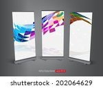 roll up display banner  vector  | Shutterstock .eps vector #202064629