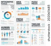 large collection of infographic ... | Shutterstock .eps vector #202065685