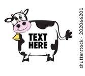 cow | Shutterstock .eps vector #202066201
