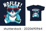 cute cat with glasses t shirt...   Shutterstock .eps vector #2020690964