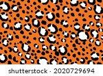 abstract modern leopard... | Shutterstock .eps vector #2020729694