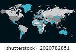 world map. color vector modern. ... | Shutterstock .eps vector #2020782851