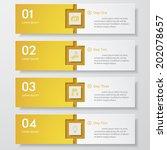 design clean number banners... | Shutterstock .eps vector #202078657