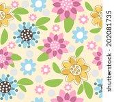 floral seamless pattern | Shutterstock .eps vector #202081735