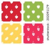 set of seamless patterns of... | Shutterstock .eps vector #202091179