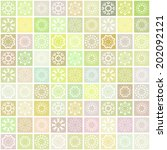 vector mosaic background with... | Shutterstock .eps vector #202092121