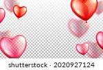 flying air balloons wedding day ... | Shutterstock .eps vector #2020927124