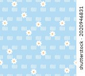 seamless pattern with little... | Shutterstock .eps vector #2020946831