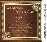 illustration wedding invitation ... | Shutterstock .eps vector #2020949951
