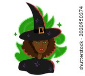 Black Woman Witch Portrait In...