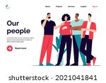 business concept flat style... | Shutterstock .eps vector #2021041841