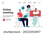 business concept flat style... | Shutterstock .eps vector #2021041847