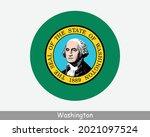 washington round circle flag....   Shutterstock .eps vector #2021097524