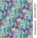 textile pattern of geometric... | Shutterstock .eps vector #2021148557