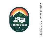 camper van or recreational... | Shutterstock .eps vector #2021170367