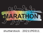 running race  competition ... | Shutterstock .eps vector #2021190311