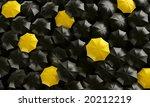 3d rendering of umbrellas seen