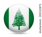 Flag Of Norfolk Island As Roun...