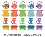 old traditional heritage icons...   Shutterstock .eps vector #2021259101