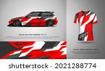 sport racing car wrap and t... | Shutterstock .eps vector #2021288774