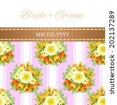 wedding invitation cards with... | Shutterstock .eps vector #202137289