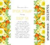 set of invitations with floral... | Shutterstock .eps vector #202139701