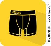 boxers. mens underwear sign.... | Shutterstock .eps vector #2021412077