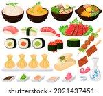 cartoon asian traditional... | Shutterstock .eps vector #2021437451