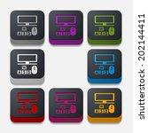square button  computer   Shutterstock .eps vector #202144411