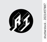 r and i   monogram or logotype. ... | Shutterstock .eps vector #2021457887