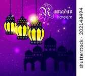ramadan kareem greeting card  ... | Shutterstock .eps vector #202148494