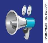megaphone character...   Shutterstock .eps vector #2021520644