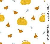 autumn leaf fall pattern ...   Shutterstock .eps vector #2021524874