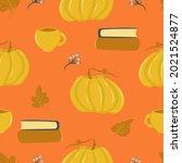 autumn leaf fall pattern ...   Shutterstock .eps vector #2021524877