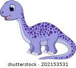 cute brontosaurus cartoon | Shutterstock .eps vector #202153531