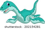 cute dinosaur criptoclidus... | Shutterstock .eps vector #202154281
