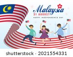 31 august   malaysia... | Shutterstock .eps vector #2021554331