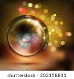 vector background with photo...   Shutterstock .eps vector #202158811