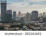 bangkok cityscape  business... | Shutterstock . vector #202161601