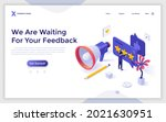 landing page template with... | Shutterstock .eps vector #2021630951