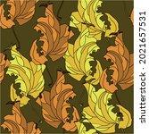 autumn motif of flying maple... | Shutterstock .eps vector #2021657531