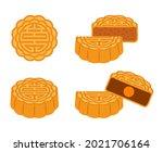 moon cake  mooncake for mid...   Shutterstock .eps vector #2021706164