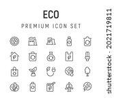 premium pack of eco line icons. ...