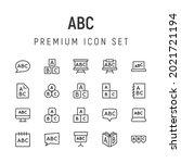 premium pack of abc line icons. ...
