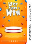 prize poster invitation contest ...   Shutterstock .eps vector #2021728754