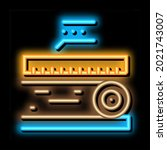 wood trunk size neon light sign ... | Shutterstock .eps vector #2021743007