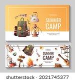set of promo flyers for summer...   Shutterstock .eps vector #2021745377