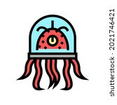 alien creature with tentacles... | Shutterstock .eps vector #2021746421