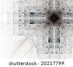 Dark Cross. Abstract Design.